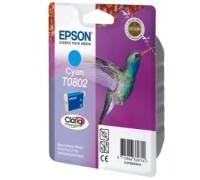 Картридж голубой Epson T0802 ,оригинальный