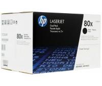 Двойная упаковка картриджей HP 80X hp cf280xd/cf280xf оригинал