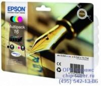 Комплект картриджей Epson 16 Multipack (набор из четырех картриджей),оригинальный