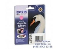 Картридж светло-пурпурный Epson T0816 ,оригинальный