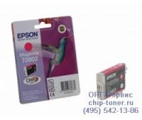 Картридж пурпурный Epson T0803 оригинальный