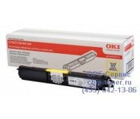 Картридж желтый Oki C110 / C130 / MC160 оригинальный