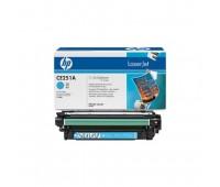 Картридж голубой HP Color LaserJet CP3520 / CP3525 / CP3525n / CP3525dn / CP3525x / CM3530 / CM3530fs оригинальный